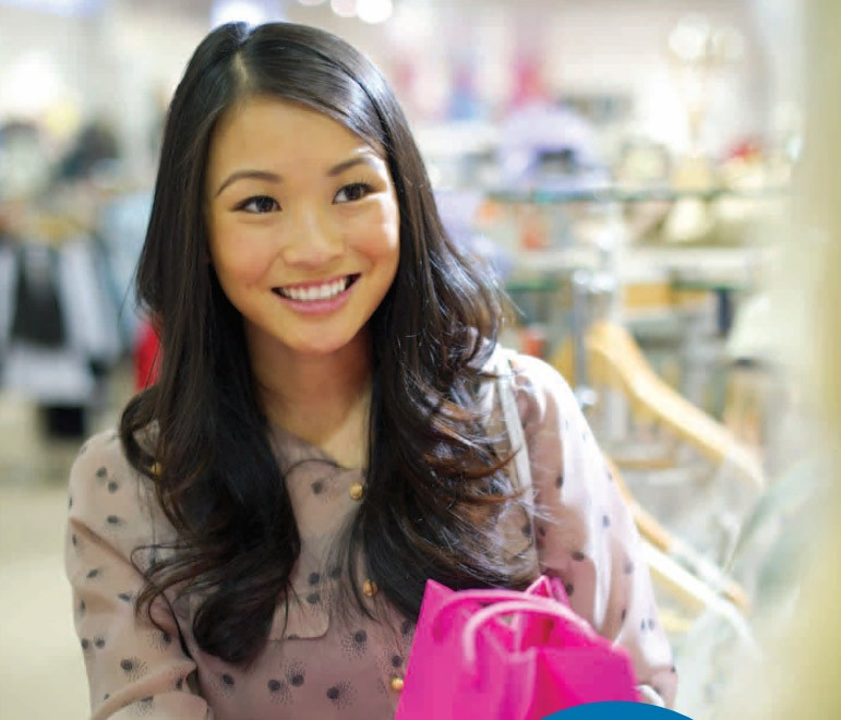 girl-asian-shop-smile-pink-bag